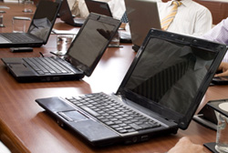 laptops used for Excel training courses.